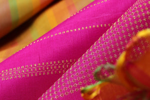 fabric texture of traditional kanjivaram pure silk saree
