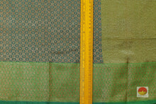 Teal and Green Handwoven Banarasi Silk Saree - Pure Silk - PB 24 Archives