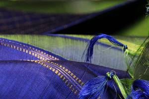 Green silk yarn used in kanjivaram pure silk saree