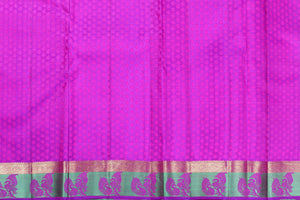 purple silk blouse of kanjivaram silk saree
