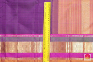 Lite Weight Handwoven Pure Silk Kanjivaram Saree - Pure Zari - PV 3611 Archives