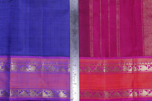 Traditional Design Handwoven Kanjivaram Pure Silk Saree - Pure Zari - PVA 0418 1355