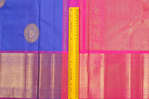 Traditional Design Handwoven Pure Silk Saree - Pure Zari - PVJL 0718 1519