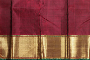 Traditional Design Handwoven Kanjivaram Pure Silk Saree - Pure Zari - PV 102 Archives