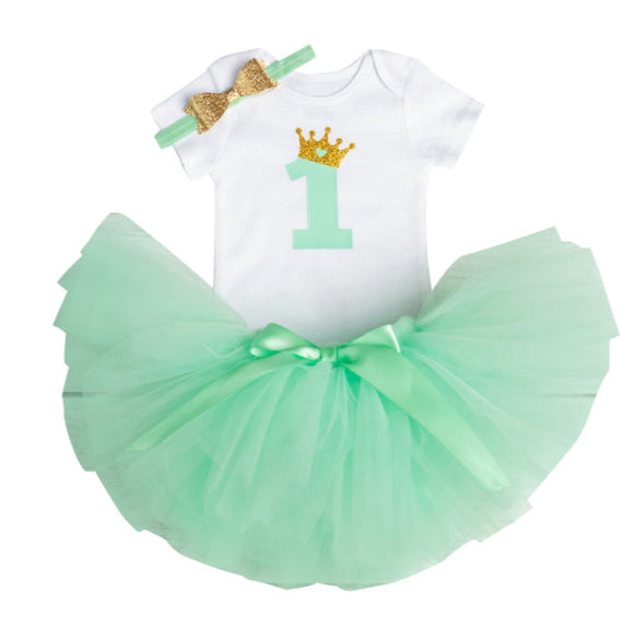 Royal One - Mint-Handmade Tutus-[Calgary]-[Alberta]-[Canada]-[Affordable Children's Clothing]-Stinky Bunny