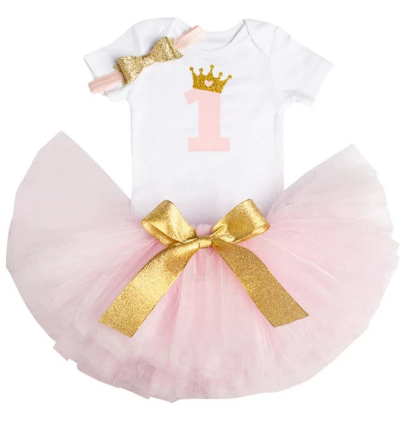 Royal One - Pink-Handmade Tutus-[Calgary]-[Alberta]-[Canada]-[Affordable Children's Clothing]-Stinky Bunny