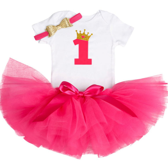 Royal One - Fuchsia-Handmade Tutus-[Calgary]-[Alberta]-[Canada]-[Affordable Children's Clothing]-Stinky Bunny