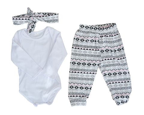 Aztec Love Outfit Sets | Stinky Bunny cute kids outfit sets, affordable kids fashion outfits, matched outfits for toddlers