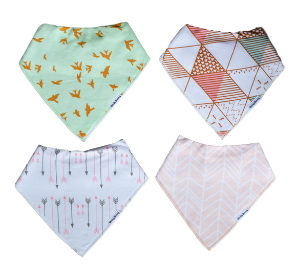 Fly with Me - Set of 4-Bandana Bibs-[Calgary]-[Alberta]-[Canada]-[Affordable Children's Clothing]-Stinky Bunny