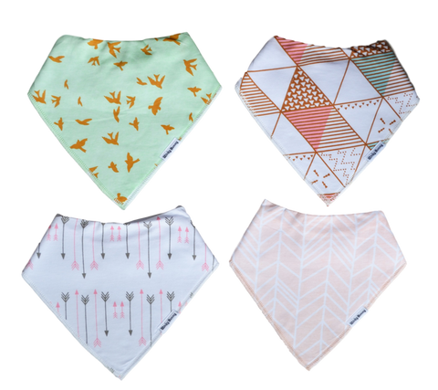 Fly with Me - Set of 4 Bandana Bibs | Stinky Bunny kids fashion clothing clearance sale, trendy toddler clothes on sale, kids fashion deals