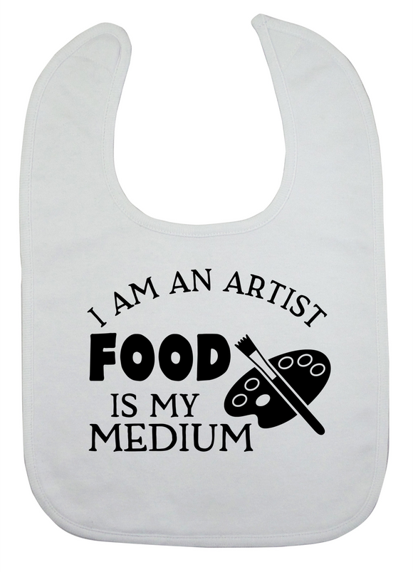 Custom Bib - I Am An Artist (you choose design colour)