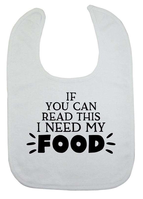 Custom Bib - I Need My Food (you choose design colour)-Bandana Bibs-[Calgary]-[Alberta]-[Canada]-[Affordable Children's Clothing]-Stinky Bunny