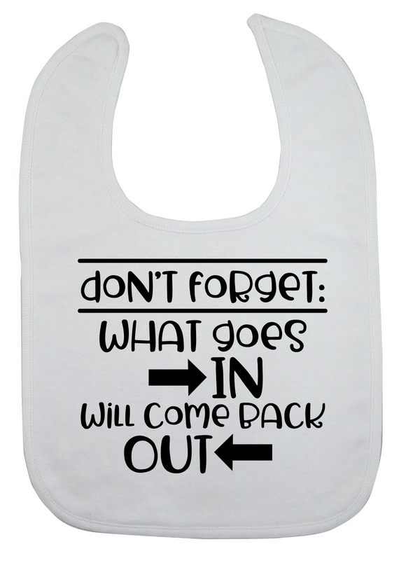 Custom Bib - What Goes In... (you choose design colour)-Bandana Bibs-[Calgary]-[Alberta]-[Canada]-[Affordable Children's Clothing]-Stinky Bunny