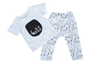 Boss. Outfit Sets | Stinky Bunny cute kids outfit sets, affordable kids fashion outfits, matched outfits for toddlers