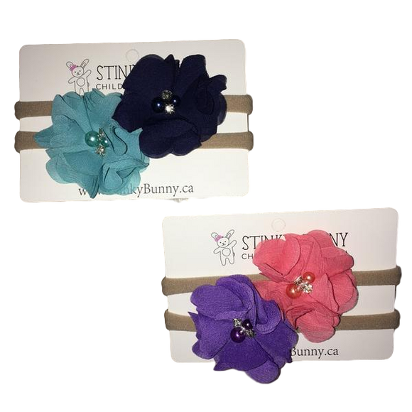 Chiffon & Sparkle - Bold - 2-pack-Headbands-[Calgary]-[Alberta]-[Canada]-[Affordable Children's Clothing]-Stinky Bunny