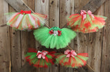 Handmade Holiday Tutus (Baby - Toddler Sizes) Handmade Tutus | Stinky Bunny cute baby birthday outfits, trendy infant birthday clothes