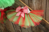 Handmade Holiday Tutus (Baby - Toddler Sizes) Handmade Tutus | Stinky Bunny fashion tutus for toddlers, affordable toddler fashion outfits, baby birthday onesies