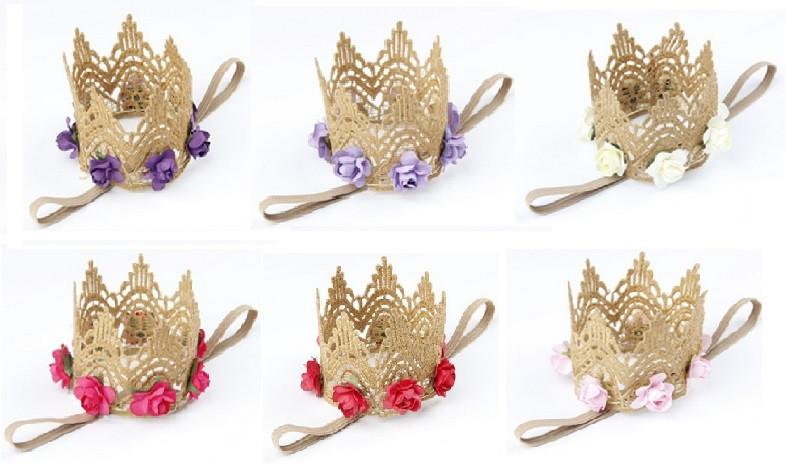 Rose Crowns Headbands | Stinky Bunny fashion headbands for toddlers, affordable infant headbands, cute kids headbands