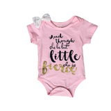 She is Fierce Onesies | Stinky Bunny cute baby onesies, cute baby girl clothes, fashion onesies for infants