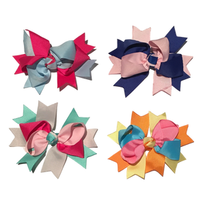Bowtastics Clips - Pinwheels-Hair Clips-[Calgary]-[Alberta]-[Canada]-[Affordable Children's Clothing]-Stinky Bunny