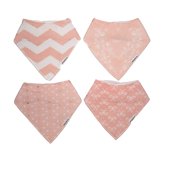 All That Glitters - Set of 4 Bandana Bibs | Stinky Bunny kids fashion clothing clearance sale, trendy toddler clothes on sale, kids fashion deals