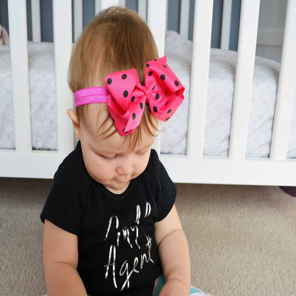 Let's Polka (Dot) - Brights Headbands | Stinky Bunny Affordable Trendy Toddler Fashion