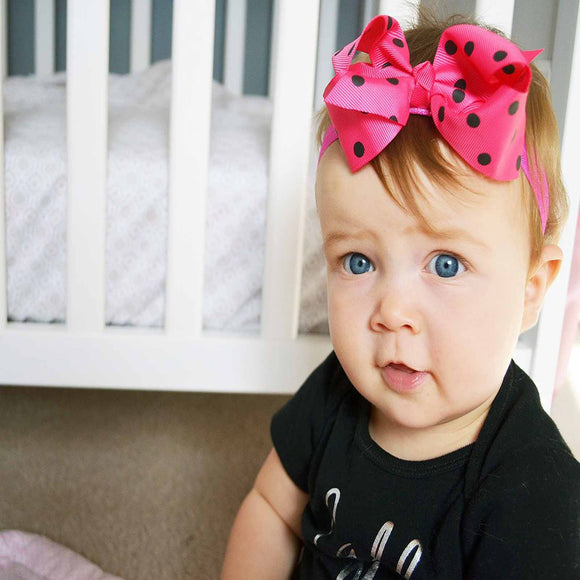 Let's Polka (Dot) - Bolds Headbands | Stinky Bunny fashion headbands for toddlers, affordable infant headbands, cute kids headbands