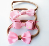 Pretty in Pink - Set of 3-Headbands-[Calgary]-[Alberta]-[Canada]-[Affordable Children's Clothing]-Stinky Bunny