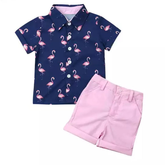 Flamingo Prep-Outfit Sets-[Calgary]-[Alberta]-[Canada]-[Affordable Children's Clothing]-Stinky Bunny