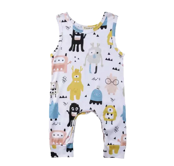 Monster Mash-Rompers-[Calgary]-[Alberta]-[Canada]-[Affordable Children's Clothing]-Stinky Bunny