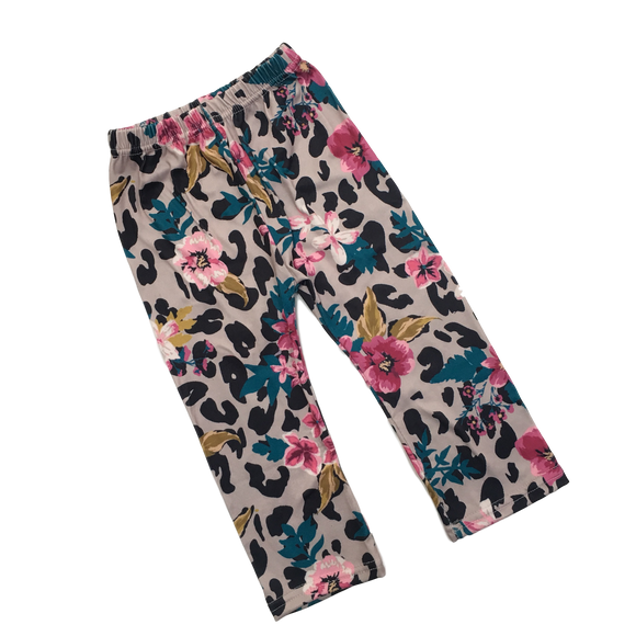 Floral & Leopard Pants Pants | Stinky Bunny kids fashion pants, inexpensive baby shorts, cute toddler shorts