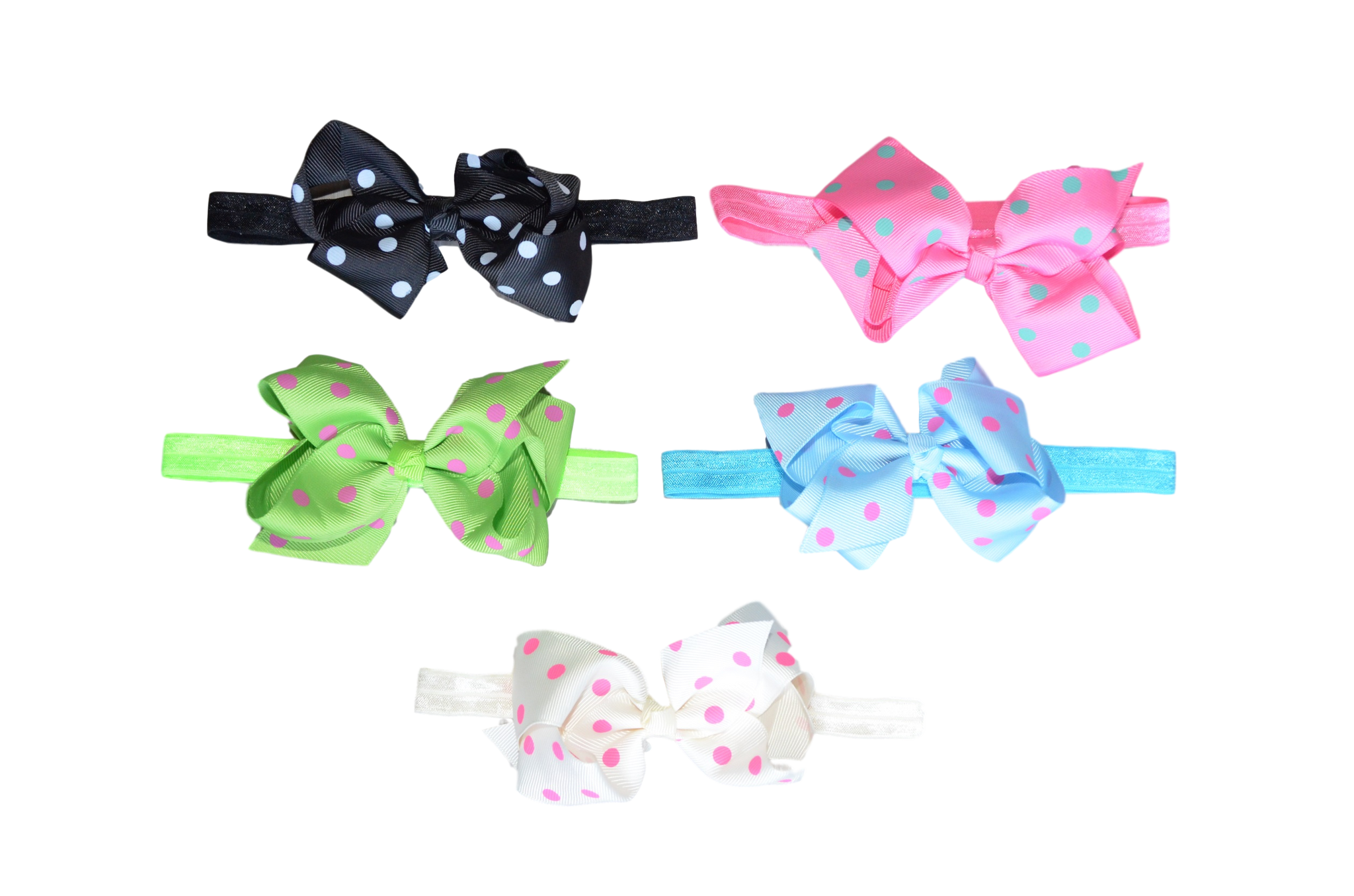 Let's Polka (Dot) - Brights Headbands | Stinky Bunny fashion headbands for toddlers, affordable infant headbands, cute kids headbands