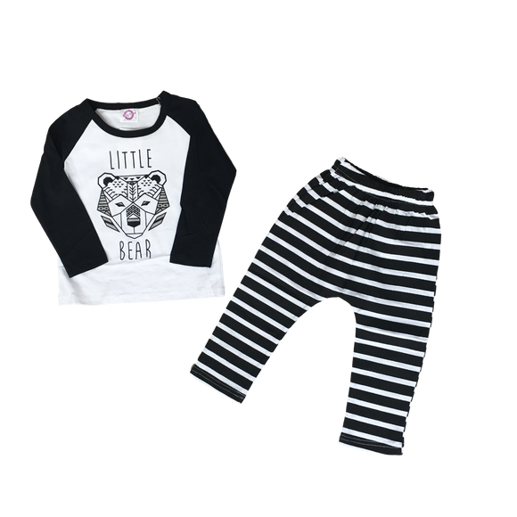 Little Bear Outfit Sets | Stinky Bunny cute kids outfit sets, affordable kids fashion outfits, matched outfits for toddlers