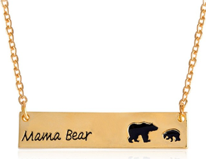 Mama Bear Necklace - Gold Tone (1 or 2 Baby Bears)-Accessories for Mom-[Calgary]-[Alberta]-[Canada]-[Affordable Children's Clothing]-Stinky Bunny