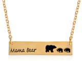 Mama Bear Necklace - Gold Tone (1 or 2 Baby Bears)
