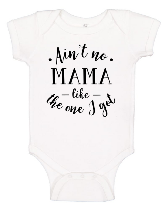 Custom Onesie - Ain't No Mama (you choose design colour)-Onesies-[Calgary]-[Alberta]-[Canada]-[Affordable Children's Clothing]-Stinky Bunny