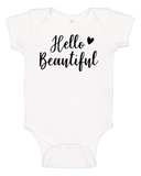 Custom Onesie - Hello Beautiful (you choose design colour)-Onesies-[Calgary]-[Alberta]-[Canada]-[Affordable Children's Clothing]-Stinky Bunny