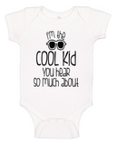 Custom Onesie - I'm the Cool Kid (you choose design colour)-Onesies-[Calgary]-[Alberta]-[Canada]-[Affordable Children's Clothing]-Stinky Bunny