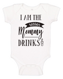 Custom Onesie - I'm the Reason Mommy Drinks (you choose design colour)-Onesies-[Calgary]-[Alberta]-[Canada]-[Affordable Children's Clothing]-Stinky Bunny