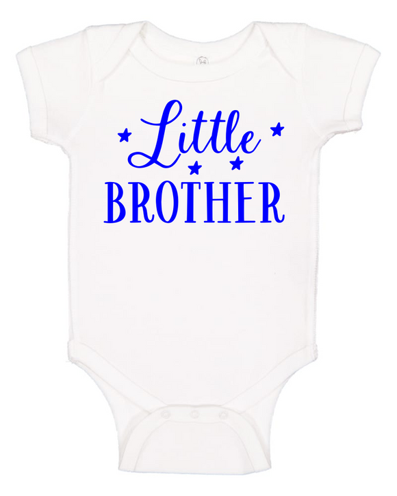 Custom Onesie - Little Brother (you choose design colour)-Onesies-[Calgary]-[Alberta]-[Canada]-[Affordable Children's Clothing]-Stinky Bunny