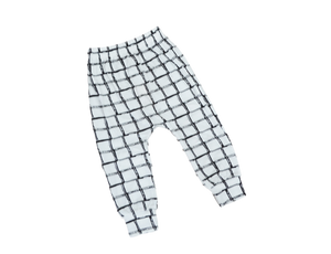 Grid Harem Pants Pants | Stinky Bunny kids fashion pants, inexpensive baby shorts, cute toddler shorts