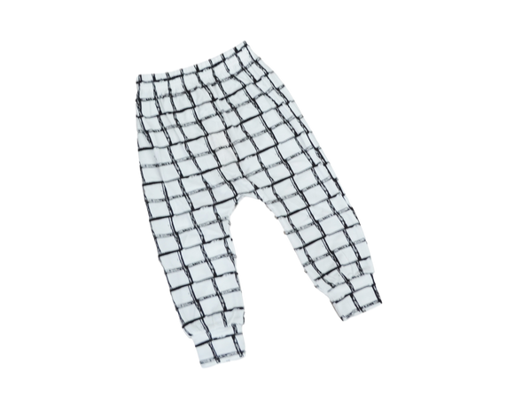 Geo Grid Harem Pants-Pants-[Calgary]-[Alberta]-[Canada]-[Affordable Children's Clothing]-Stinky Bunny