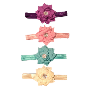 Satin Flower Headbands | Stinky Bunny Affordable Trendy Toddler Fashion