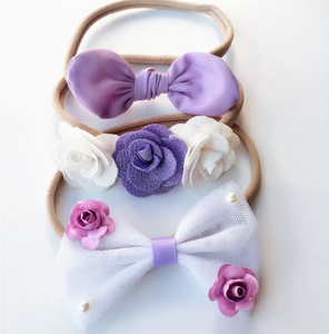 Perfect Purple - Set of 3-Headbands-[Calgary]-[Alberta]-[Canada]-[Affordable Children's Clothing]-Stinky Bunny