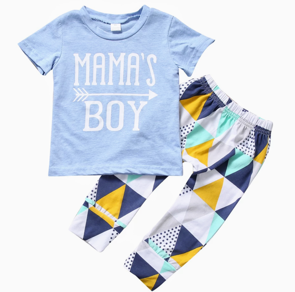 Mama's Boy Blue-Outfit Sets-[Calgary]-[Alberta]-[Canada]-[Affordable Children's Clothing]-Stinky Bunny