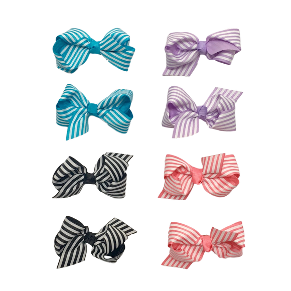 Bowtastics Mini Clips-Hair Clips-[Calgary]-[Alberta]-[Canada]-[Affordable Children's Clothing]-Stinky Bunny