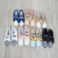 Studded Bow Moccasins (various colours & patterns)