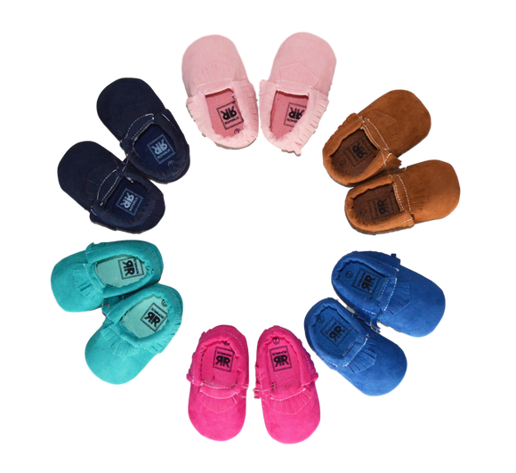 Faux Suede Moccasins Footwear | Stinky Bunny kids fashion clothing clearance sale, trendy toddler clothes on sale, kids fashion deals