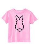 Custom Toddler Shirt - Bunny - Pink (you choose design colour)-Shirts-[Calgary]-[Alberta]-[Canada]-[Affordable Children's Clothing]-Stinky Bunny