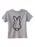Custom Toddler Shirt - Bunny - Grey (you choose design colour)-Shirts-[Calgary]-[Alberta]-[Canada]-[Affordable Children's Clothing]-Stinky Bunny